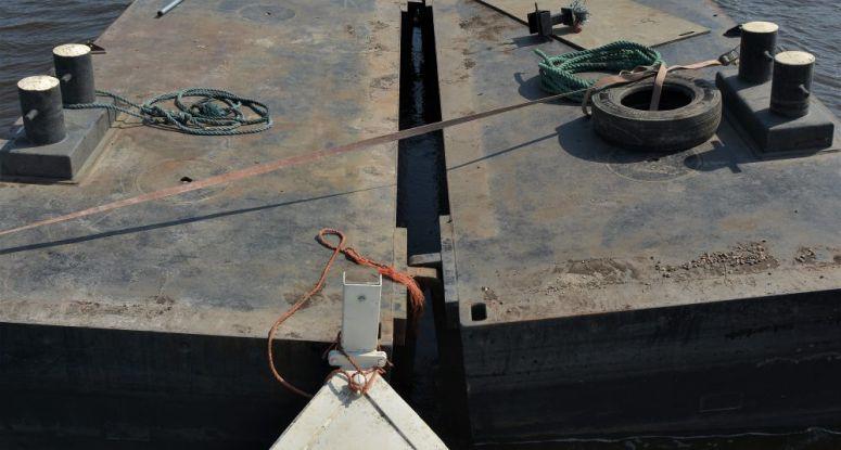 Inklapbare container ponton Baars Sliedrecht
