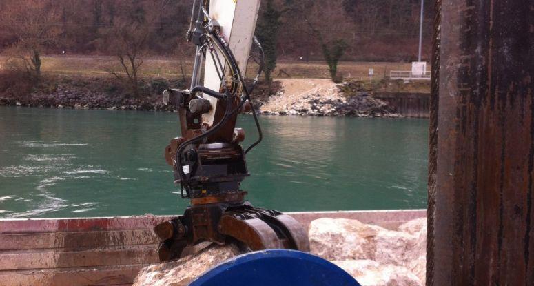 split hopper barge 160 m3 Seyssel Baars