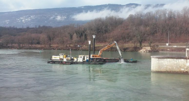 project service dam Seyssel