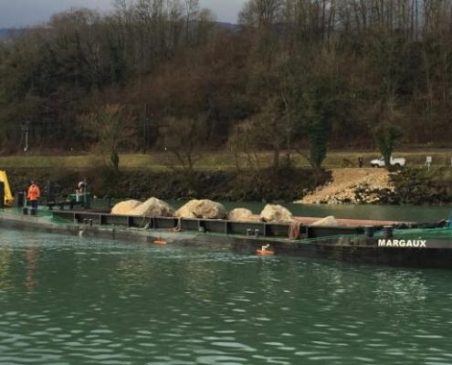 split hopper barge Baars for rental or sale