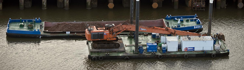 Splithopper barge for rent