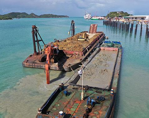 splithopper barges for dredging works Baars