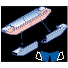 splithopper barge 160 m3 dismountable