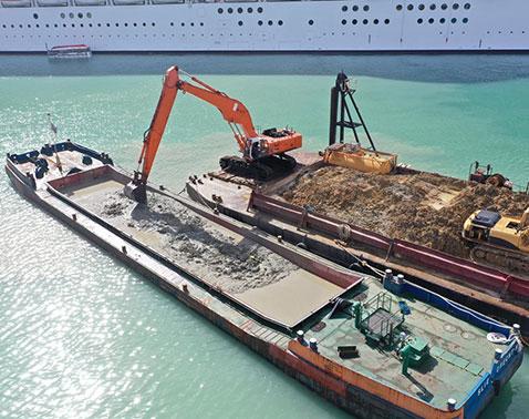 splitbarge for dredging