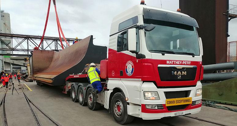 splitbarge dismountable transport by truck