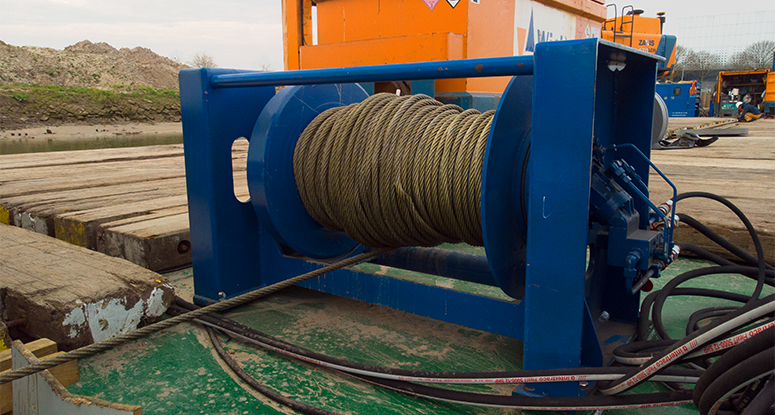 winch system for barges rental or sale