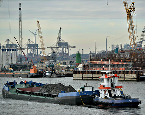 split hopper barge Transport IJmuiden