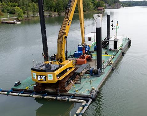 dredging modular pontoon