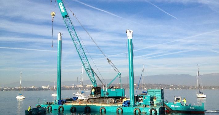 Baars floating workplatforms in Geneve