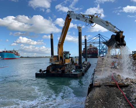 modular container pontoon Baars