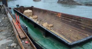 split hopper barge Baars