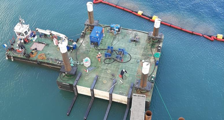 Jackup barge modular pontoons 12x12 m